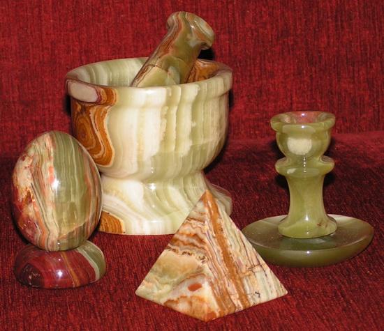 Часть домашней коллекции оникса