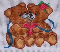 """Вышивка крестом """"Забавные медвежата"""""""