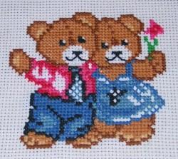 """Вышивка крестом """"Милые медвежата"""""""