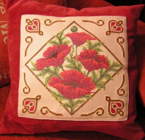 Подушки декоративные своими руками вышивка