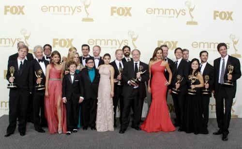 Команда сериала Американская семейка на церемонии Эмми 2011 года