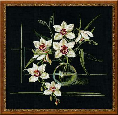 Вышивка крестом Белая орхидея от фирмы Riolis
