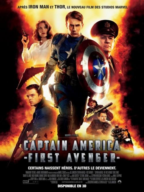 Капитан Америка. Первый мститель. В главной роли Крис Эванс.