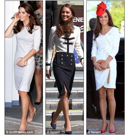Кейт Миддлтон носит телесные колготки на всех официальных мероприятиях