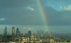 Фото Лондона в дождь с высоты птичьего полета
