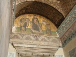 Фреска с христианскими святыми в Соборе Святой Софии