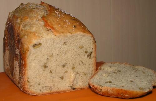 Средиземноморская мучная лепешка - хлеб из хлебопечки