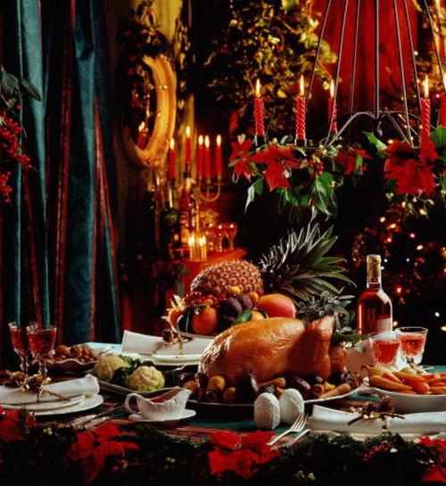 Праздничный новогодний стол