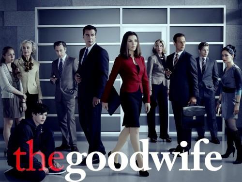 Главные герои сериала Хорошая жена. Слева - семья, справа - коллеги.