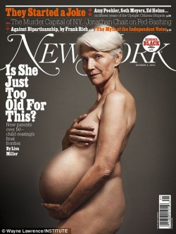 Не только Деми Мур может позировать голой и беременной! Новое поколение родителей за 50.