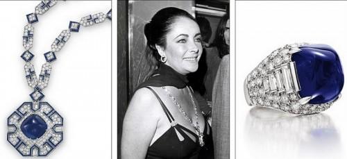 Комплект из сапфиров с алмазами от Bulgari является подарком Ричарда Бартона