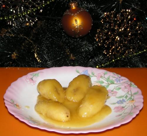 Бананы в карамели - отличный Новогодний десерт.