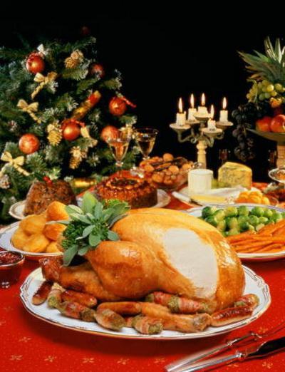 Праздничный новогодний рождественский стол