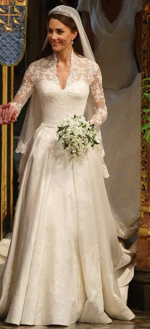 Кейт Мидлтон в свадебном платье