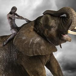 Ani-Human - серия портретов. Человек и слон