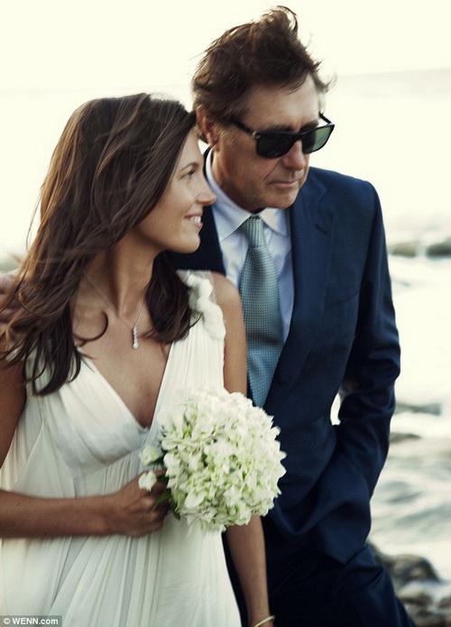 Брайан Ферри с новой супругой Амандой Шеппард