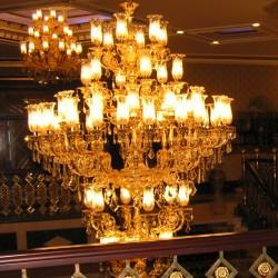 Club Hotel SERA - люстры как во дворце