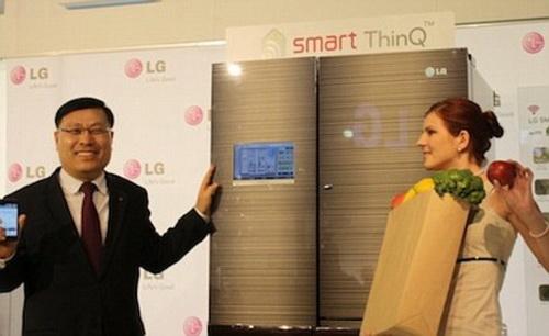 ThinQ Smart LG - холодильник, который анализирует продукты.