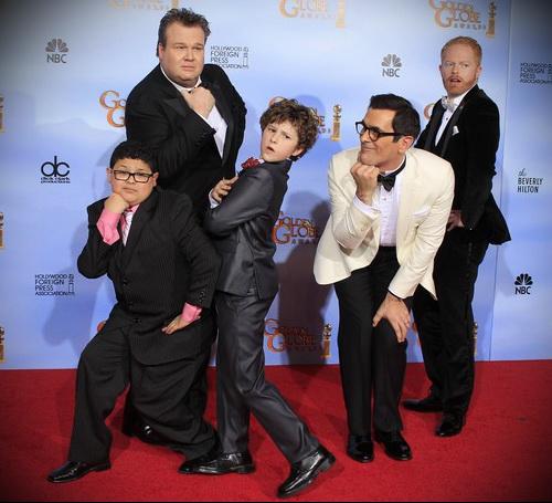 Актеры сериала Американская семейка (Modern Family) на церемонии Золотой Глобус 2012