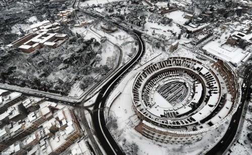 Римский Колизей с высоты птичьего полета