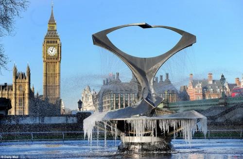 Лондон - фонтан возле Вестминстерского моста