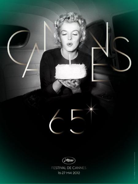 Мэрилин Монро на постере 65 Каннского кинофестиваля