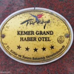 GRAND HABER HOTEL - табличка на входе в отель