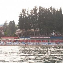 GRAND HABER HOTEL - пляж, вид с моря