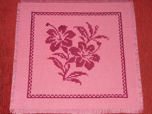 Вышивка крестом на чехол для подушки