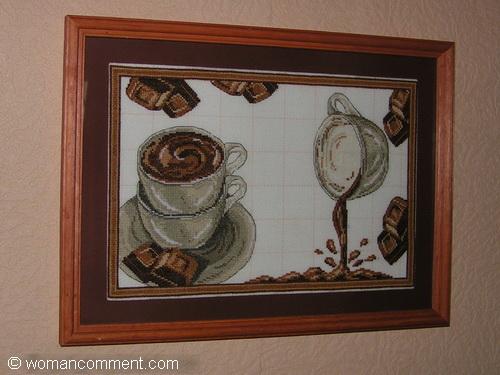 Горячий шоколад вышивка