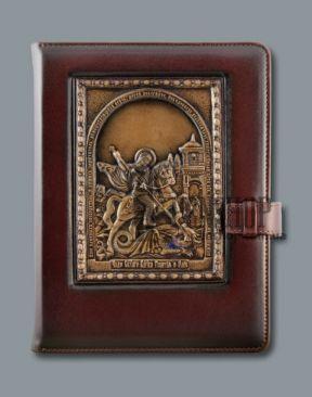 Кожаный ежедневник, Библия или книга на подарок от Penshop