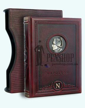 """Книга """"Наполеон"""", обложка из натуральной кожи"""